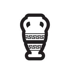 Flat icon in black and white style amphora vector