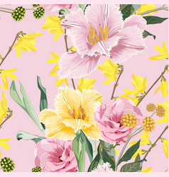 floral seamless pattern beautiful spring vector image