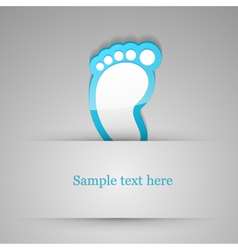Footprint sticker vector image