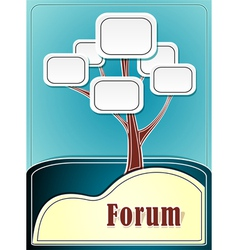 Forum tree or concept information marine backgroun vector