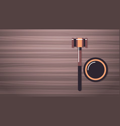 gavel on wooden table legal law advice and justice vector image