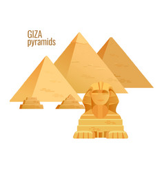 giza pyramidsegypt ancient travel architecture vector image