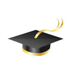 Graduation cap element for degree ceremony vector