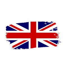 Great britain flag jack uk grunge flag isolated vector