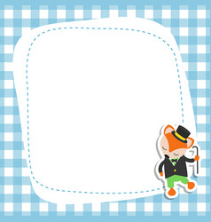 greeting card with cartoon fox greeting card with vector image