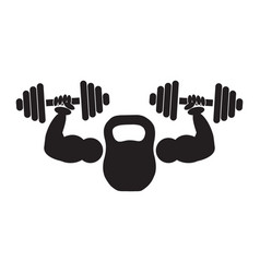 Gym or fitness logo sign vector