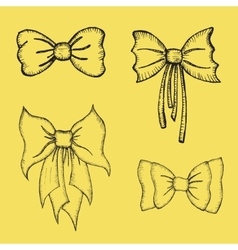 Hand drawn Bows vector image