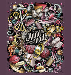Hand made hand drawn doodles vector