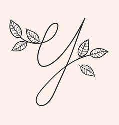 Handwritten letter y monogram or logo brand vector
