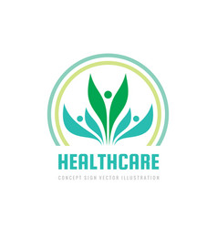 healthcare - business logo template concept vector image