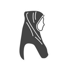 Hijab icon graphic design isolated vector