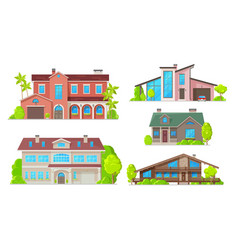 home buildings real estate house and villa vector image