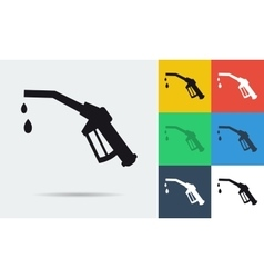 Icon of refueling nozzle vector