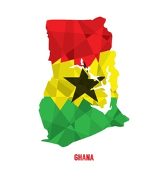 Map of Republic Of Ghana vector