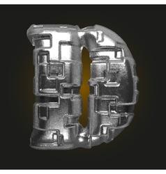 Metal figure d vector