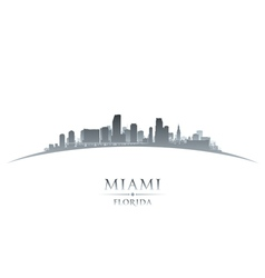 Miami Florida city skyline silhouette vector