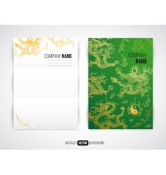 Modern flyer brochure design template with vector