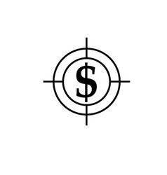 money target dollar icon vector image