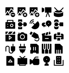 Multimedia icons 6 vector
