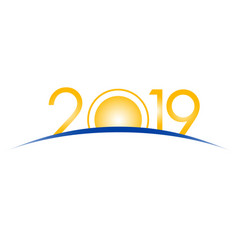 new year 2019 concept vector image