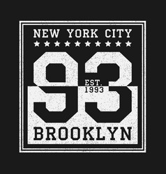 new york balck and white print vector image