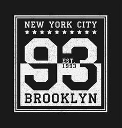 New york print vector