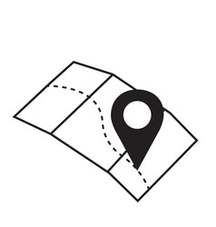 Pin sign location map icon with vector
