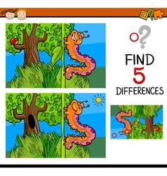 Preschool differences game vector
