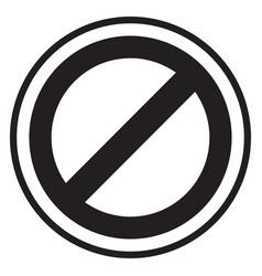 prohibition symbol vector image