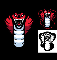 red cobra mascot vector image