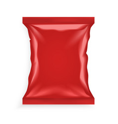 Red Plastic Bag vector image