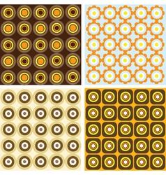 Retro patterns vector