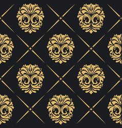 Royal background baroque vector
