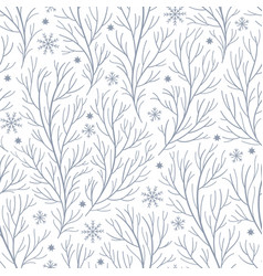 seamless pattern with branches vector image