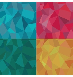 Seamless Polygonal Pattern Set Background vector image
