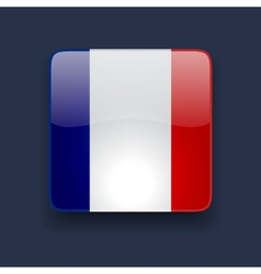 Square icon with flag of France vector image