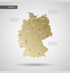 stylized germany map vector image