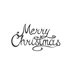winter holiday white simple background merry vector image