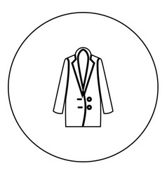 woman overcoat black icon in circle outline vector image