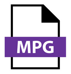 file name extension mpg type vector image vector image