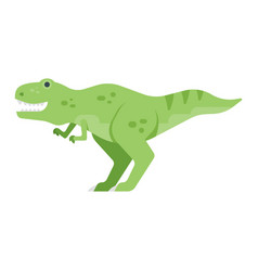 flat style of dinosaur vector image