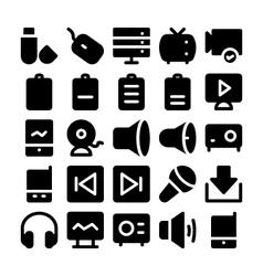 Multimedia icons 7 vector
