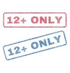12 plus only textile stamps vector image vector image