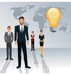 business people teamwork world idea creative vector image