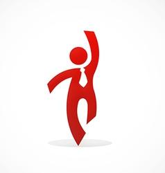 businessman success abstract logo vector image