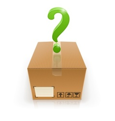 closed box with question mark vector image