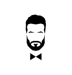 gentleman avatar with bow tie vector image