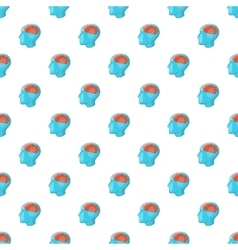 Human brain pattern cartoon style vector image vector image