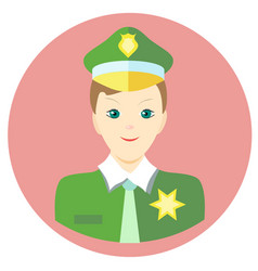 icon man sheriff in a flat style image on vector image vector image