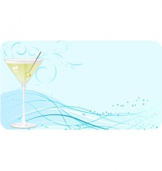 martini banner vector image vector image